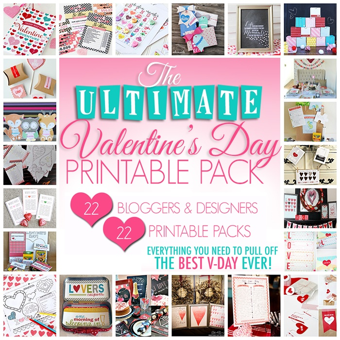 Ultimate Valentine's Printable Pack: 22 Bloggers, 22 Printable Packs - ONLY $7!