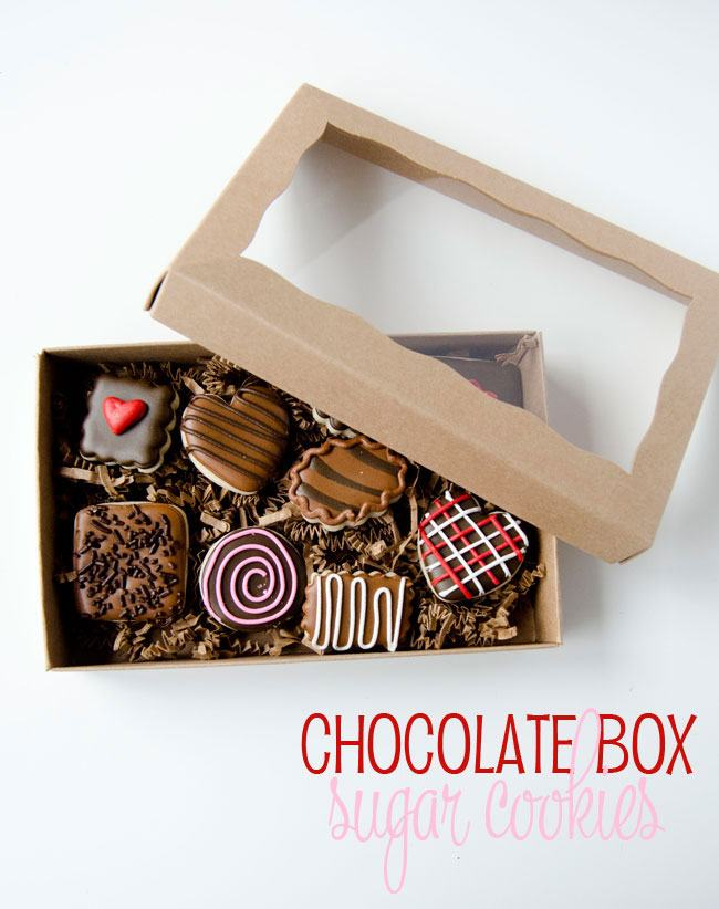 Box Of Chocolates:: Sugar Cookies by The Cookie Fairy on Love The Day
