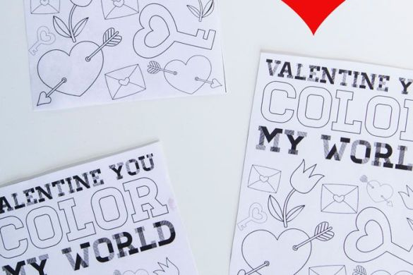 Color You Own VALENTINE Free Printable by Love The Day