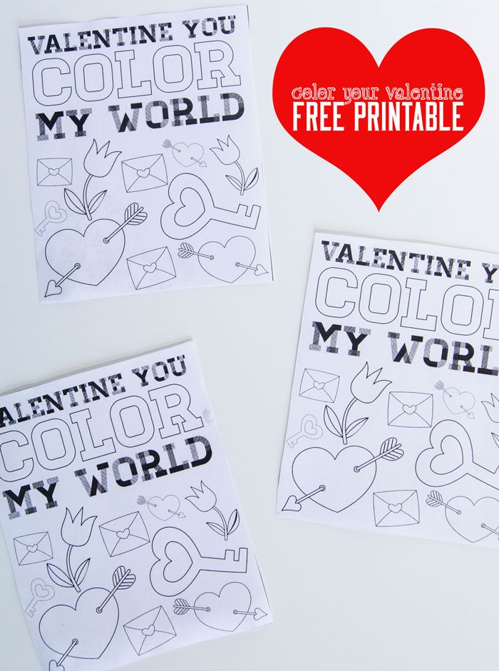 Valentine Coloring Pages FREE Printable by Love The Day