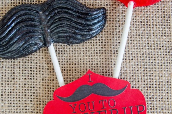 Mustache Valentine FREE Printable by Love The Day