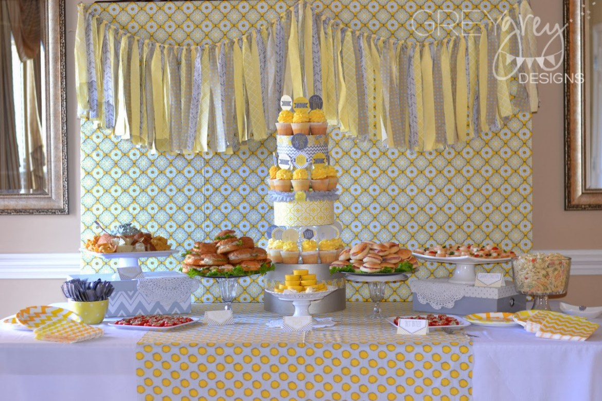 Yellow and Grey Baby Shower:: Bundle Of Joy by GreyGrey Design with Love The Day printables!