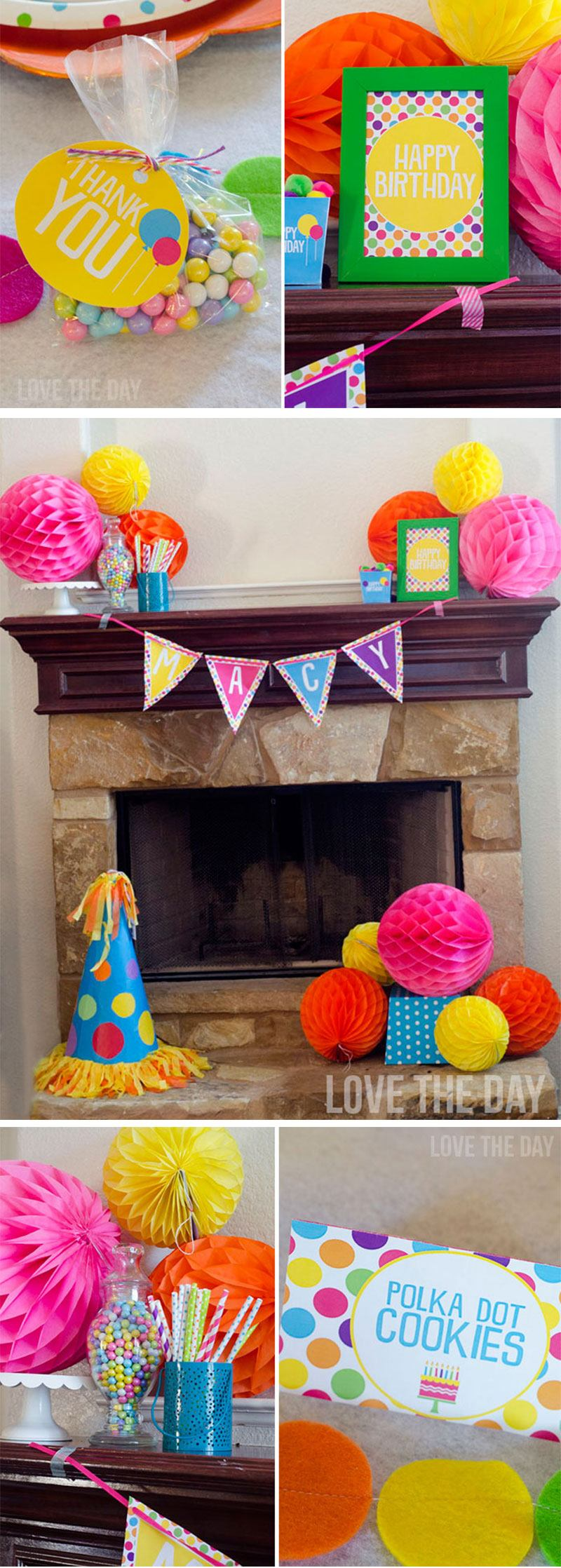 Polka Dot Party Ideas by Lindi Haws of Love The Day