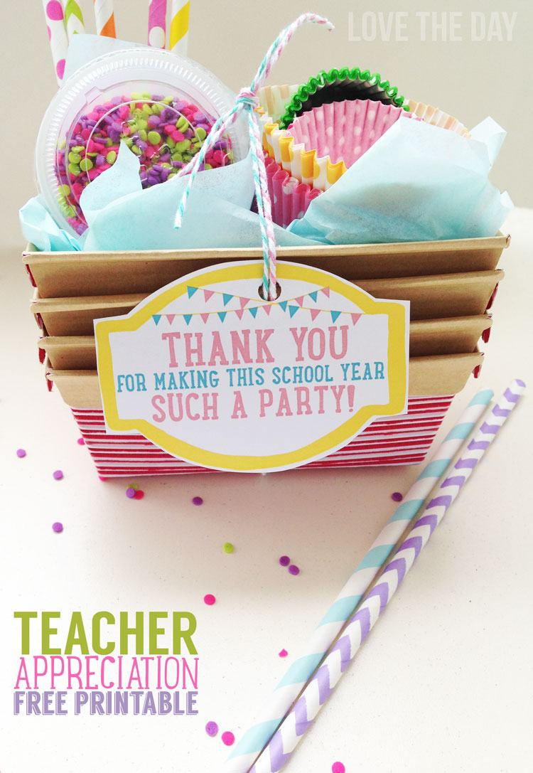 Free Printable Teacher Appreciation Tag by Love The Day