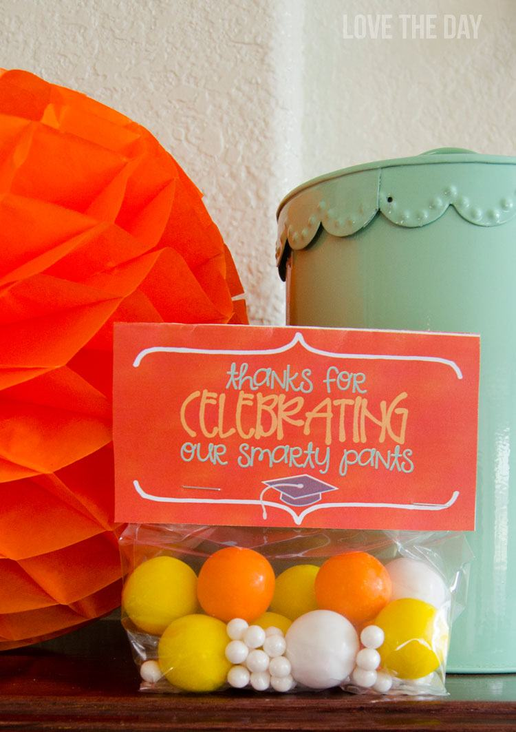 FREE Graduation Printable Party Favors:: Graduation Party Ideas by Love The Day