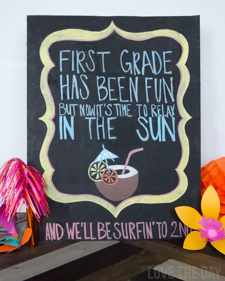 How To Do Chalkboard Art by Love The Day