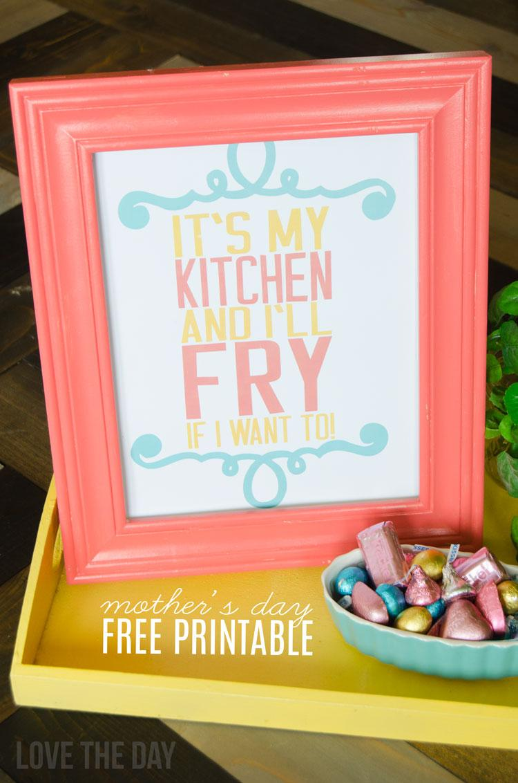 FREE Printable Mother's Day Card & Sign