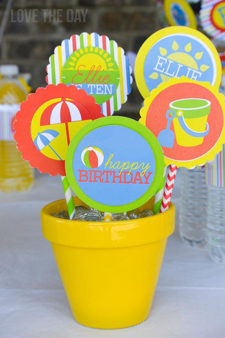 Beach Birthday Party Ideas on Love The Day