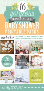 Ultimate Baby Shower Printable Pack