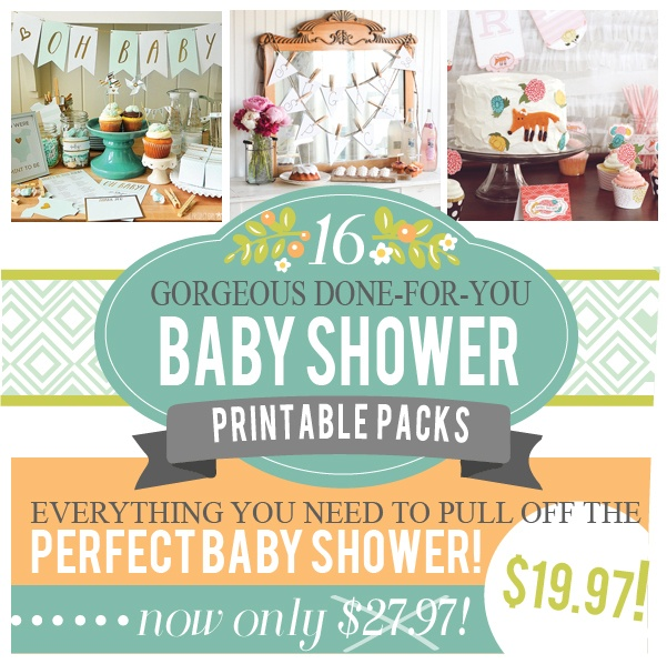 The Ultimate Package of Baby Shower Printables