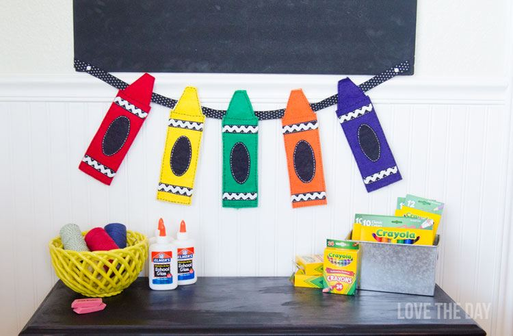 Felt Crayon Garland Tutorial with Michaels by Love The Day