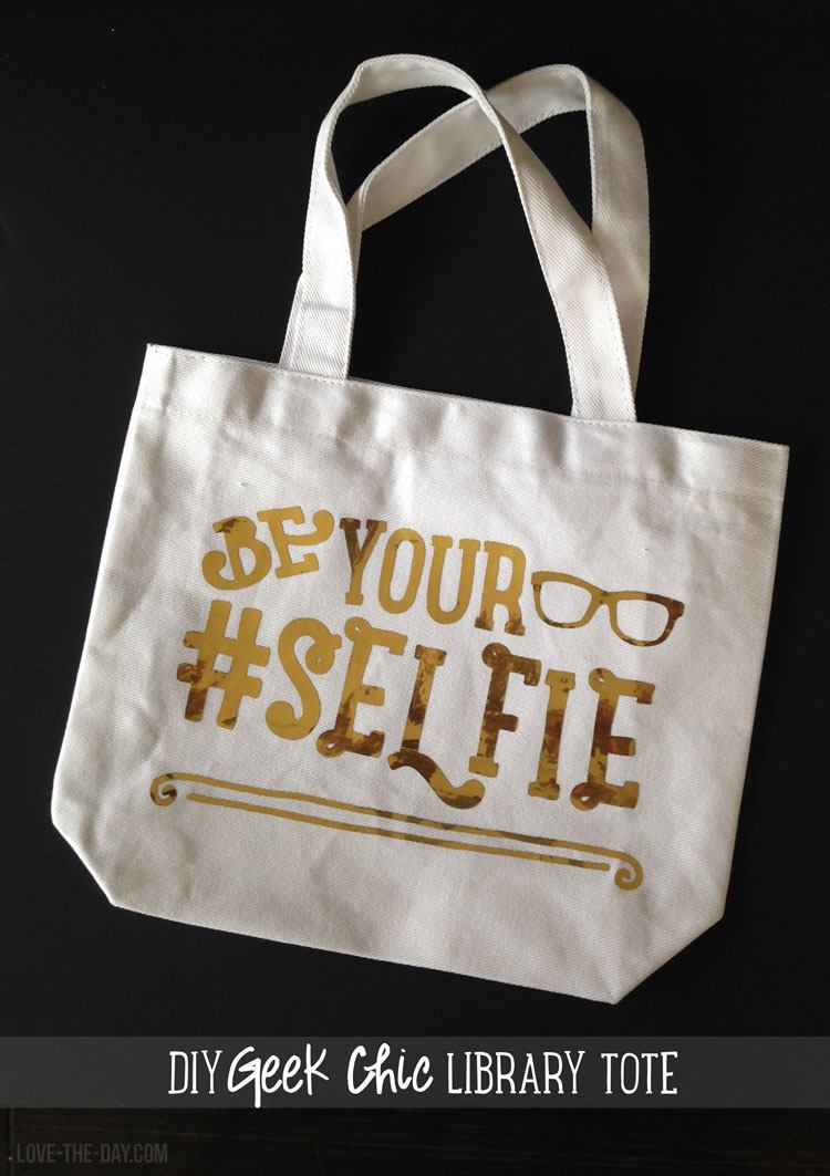Geek Chic DIY Tote Bag with Cricut Explore