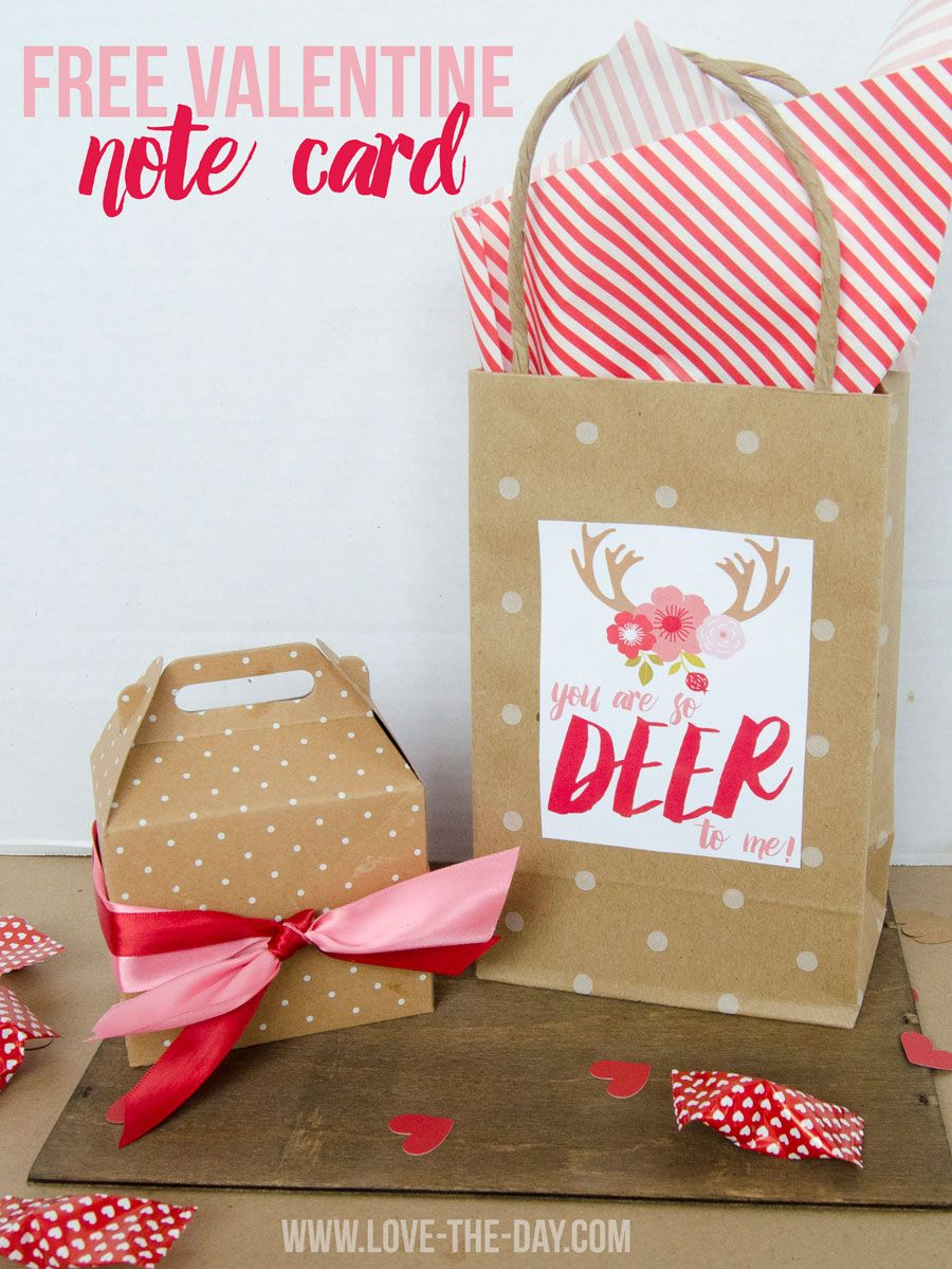 Deer To Me 'Valentine Card' FREE Printable by Love the Day