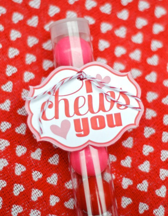 I Chews You Valentine PRINTABLE Instant Download by Love The Day