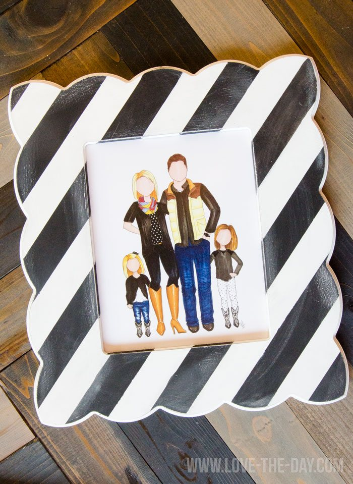 Hand-Drawn Family Portraits on Love The Day