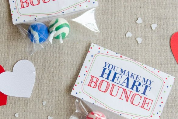 Free Valentine Printables:: You Make My Heart Bounce by Love The Day