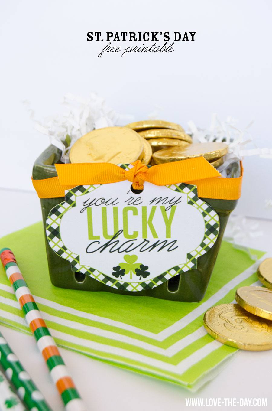 St. Patrick's Day Ideas & FREE Printable by Lindi Haws of Love The Day