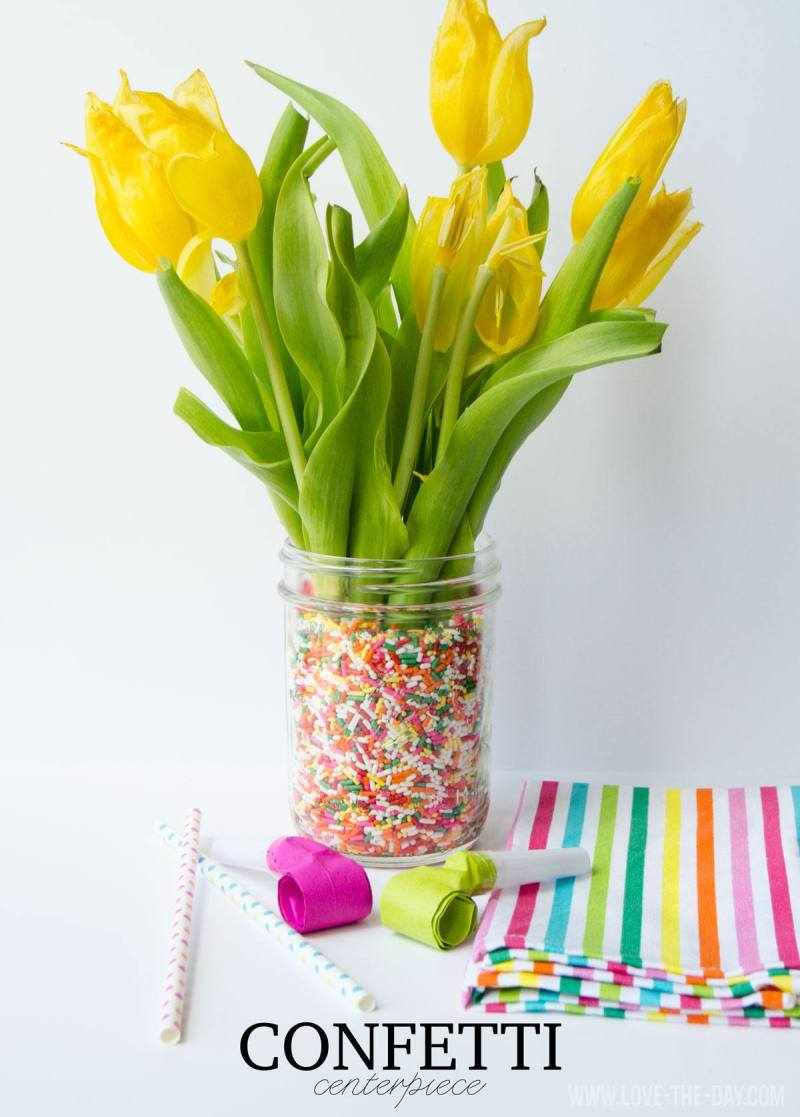 DIY Party Centerpieces with Sprinkles!
