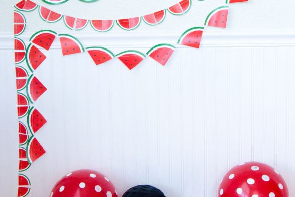 DIY Watermelon Decorations:: FREE Printable Garlands by Love The Day