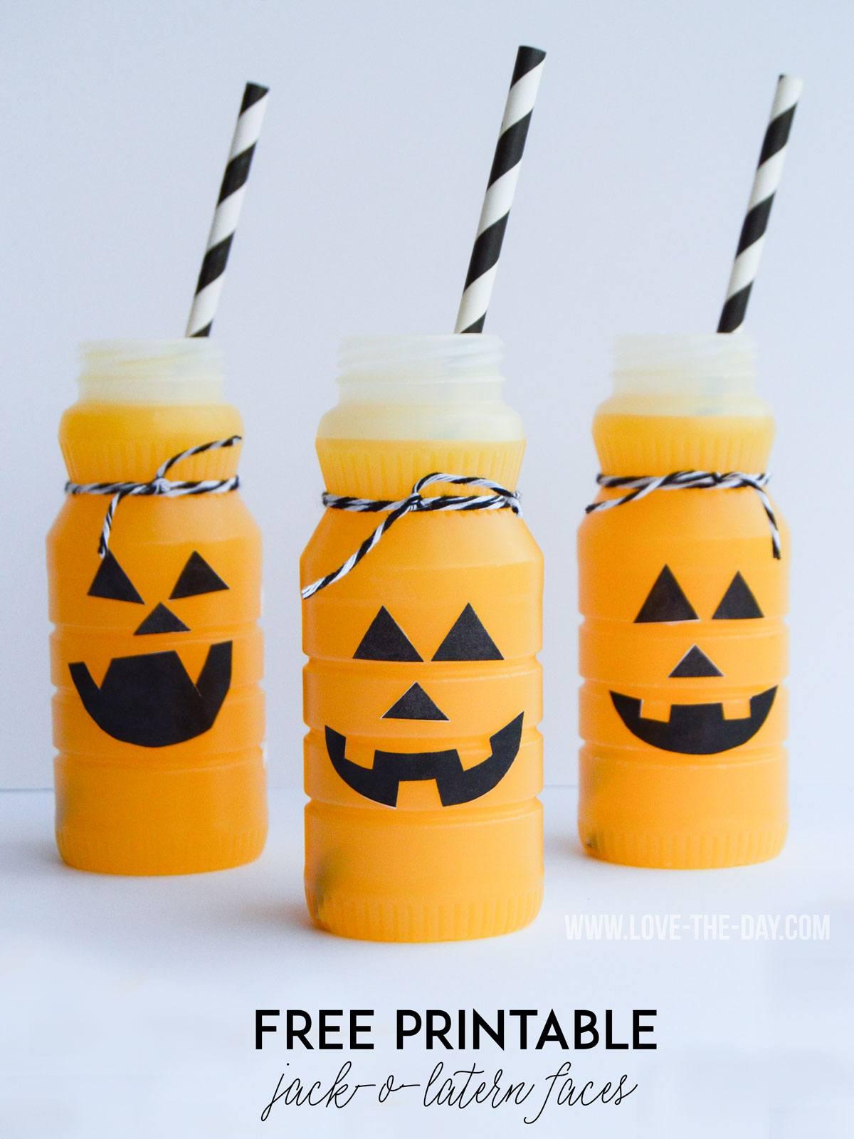 Free Jack O Lantern Patterns For Pumpkin Drinks By Love