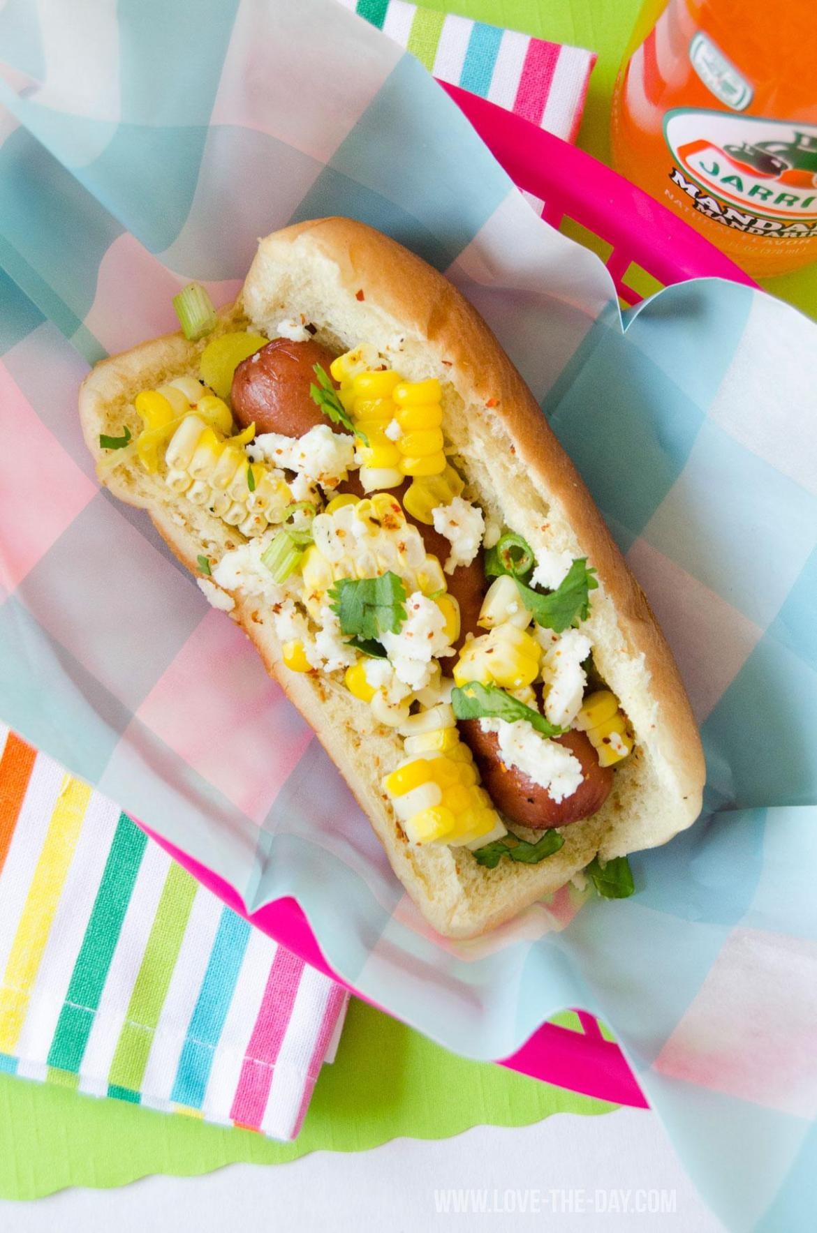 Mexican Corn Hot Dog Recipe by Love The Day
