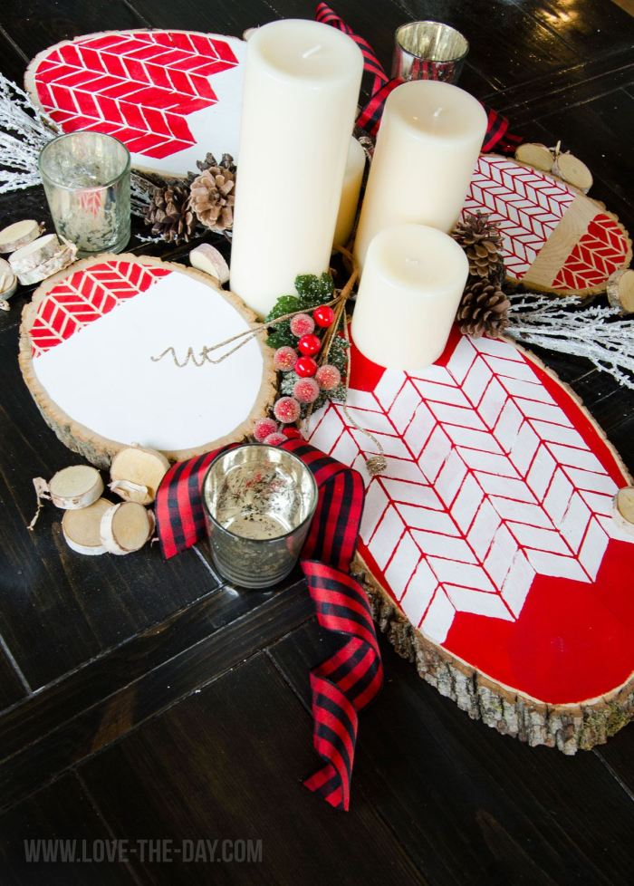 Wooden DIY Centerpieces by Love The Day