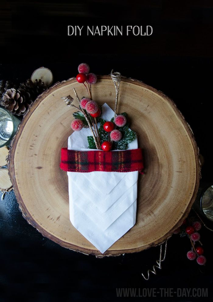 DIY Napkin Folding by Love The Day