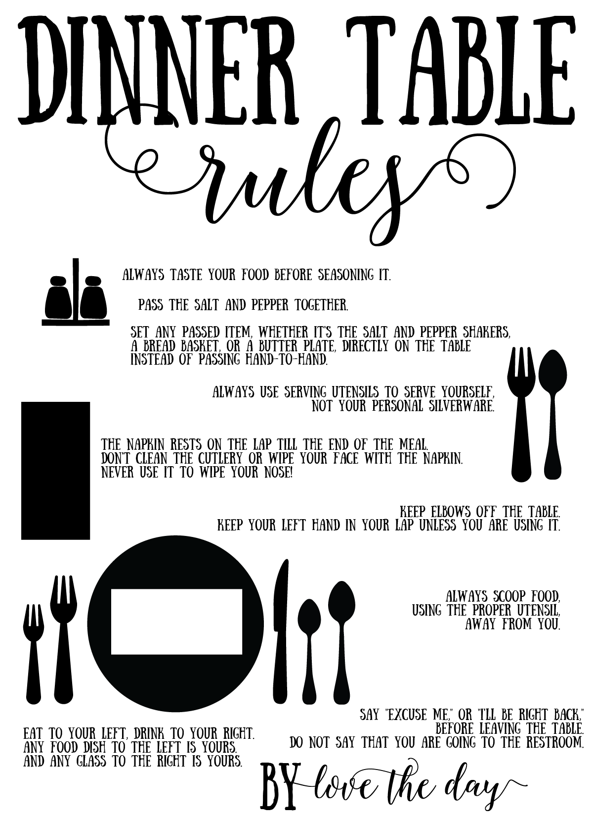 Proper Place Setting Tutorials