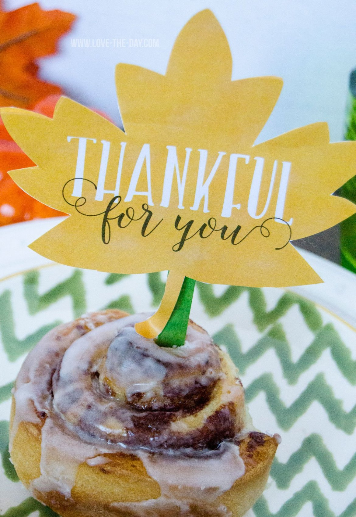 FREE 'Thankful For You' Leaf Printable by Love The Day
