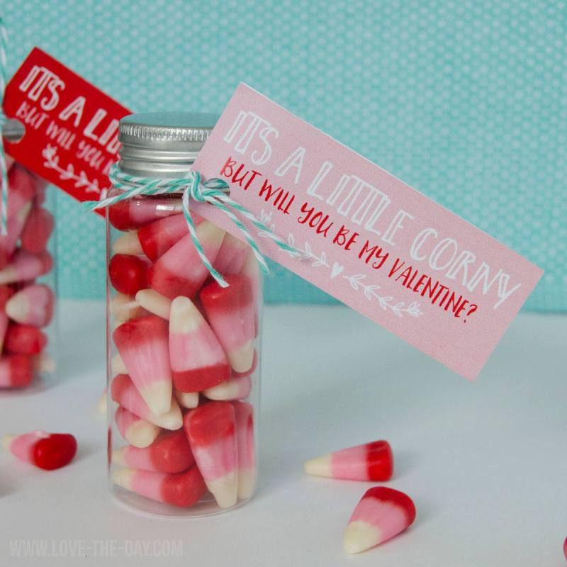 Free Corny Valentine Tag by Love The Day