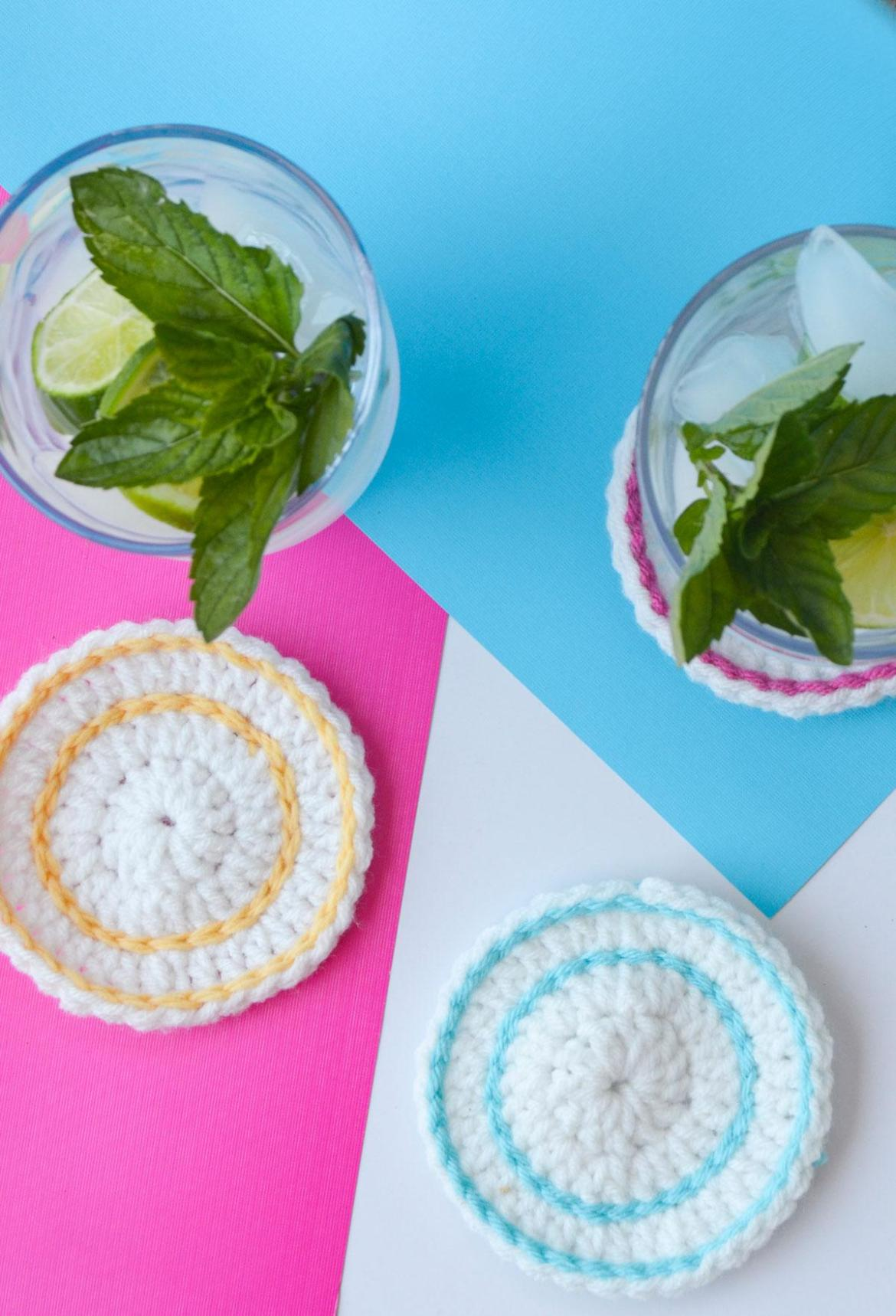 Crochet Coasters on Love The Day