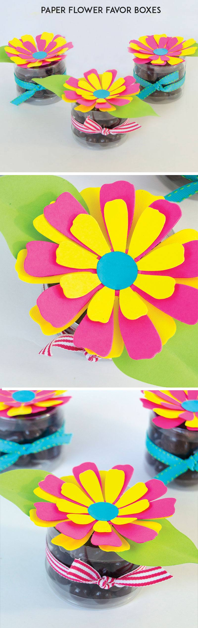 Paper Flower Favor Box Tutorial & MY FIRST VIDEO by Lindi Haws of Love The Day