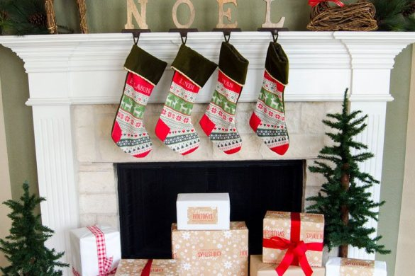 Christmas Card Holder TUTORIAL & Mantel