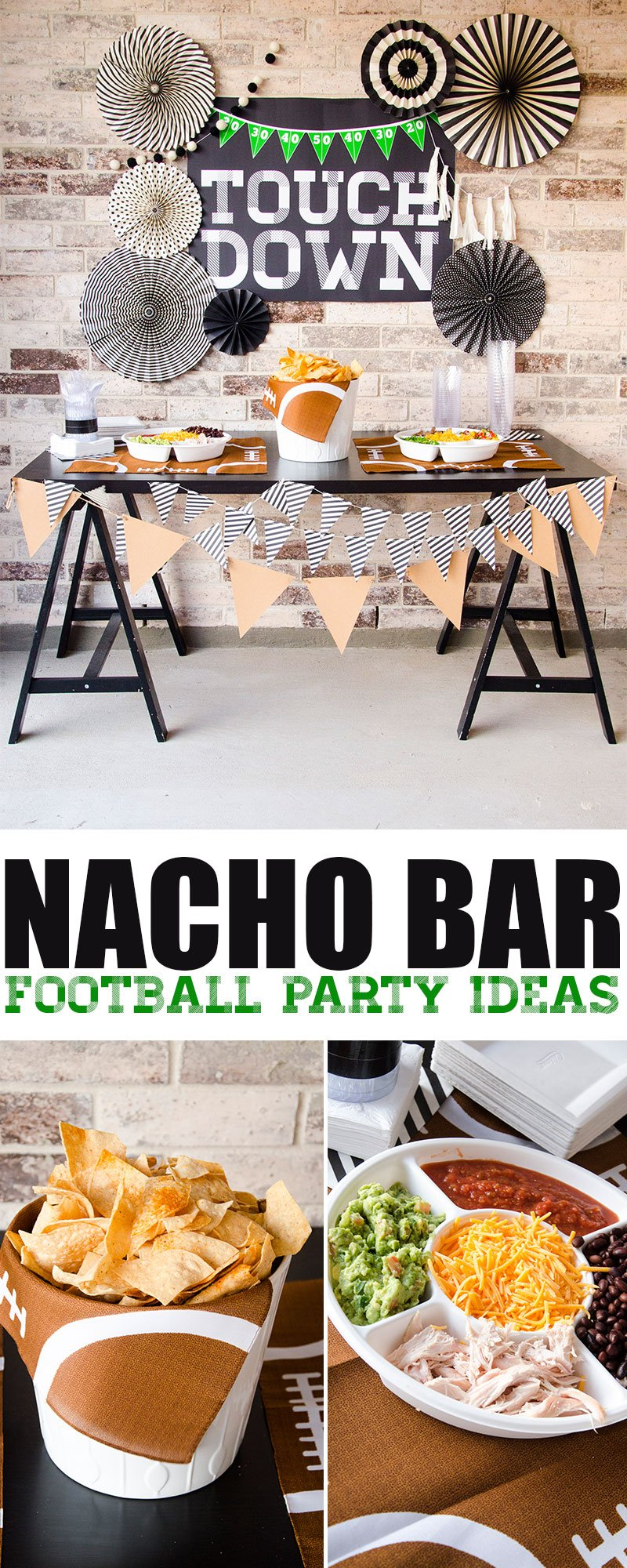 DIY Football Party Ideas & Printable Backdrop by Lindi Haws of Love The Day