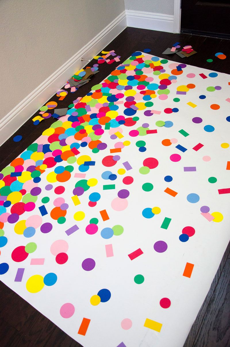 DIY Homemade Confetti Backdrop by Lindi Haws of Love The Day