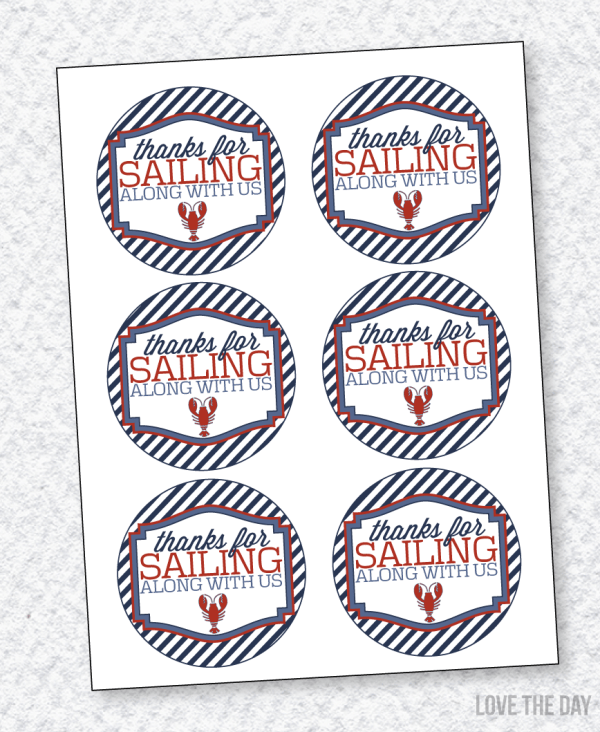 Lobster Party PRINTABLES:: Favor Tags