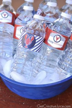 Lobster Party PRINTABLES:: Drink Labels