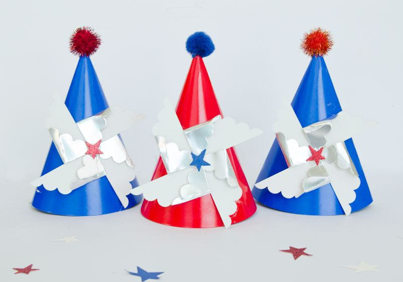 Christmas Party Hat Ideas Part - 49: America Themed Party Ideas:: Party Hats By Lindi Haws Of Love The Day