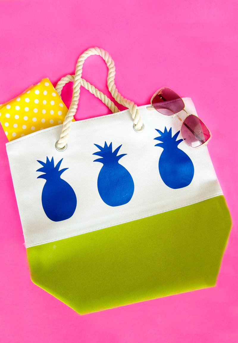 Pineapple DIY Tote Bag Tutorial by Lindi Haws of Love The Day