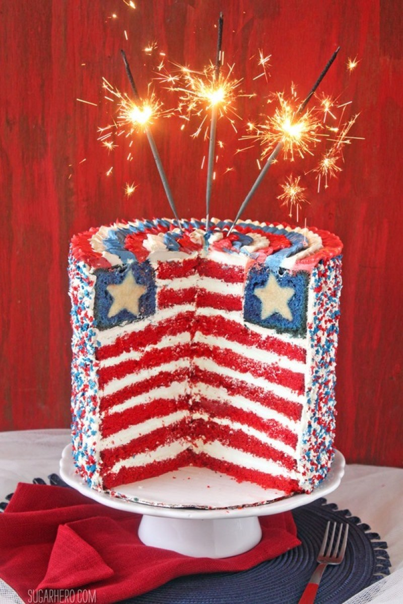 30 Red, White, & Blue 4th of July Dessert Recipes on Love the Day