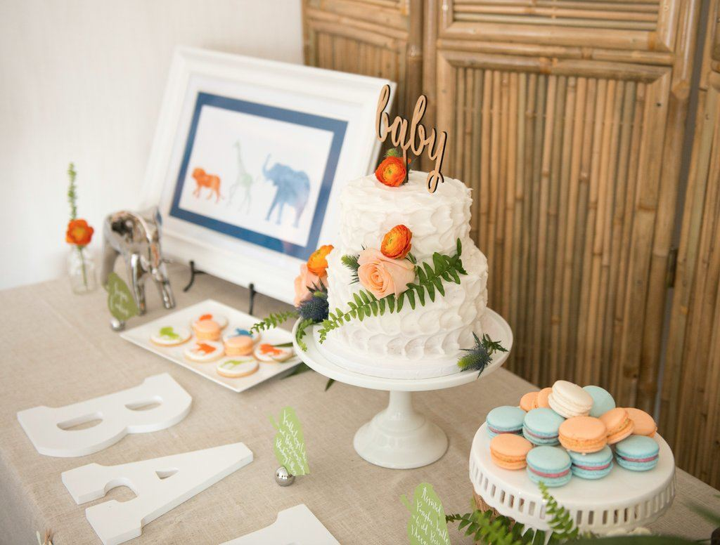 Adorable and unique safari baby shower ideas on love the day - Unique girl baby shower themes ...