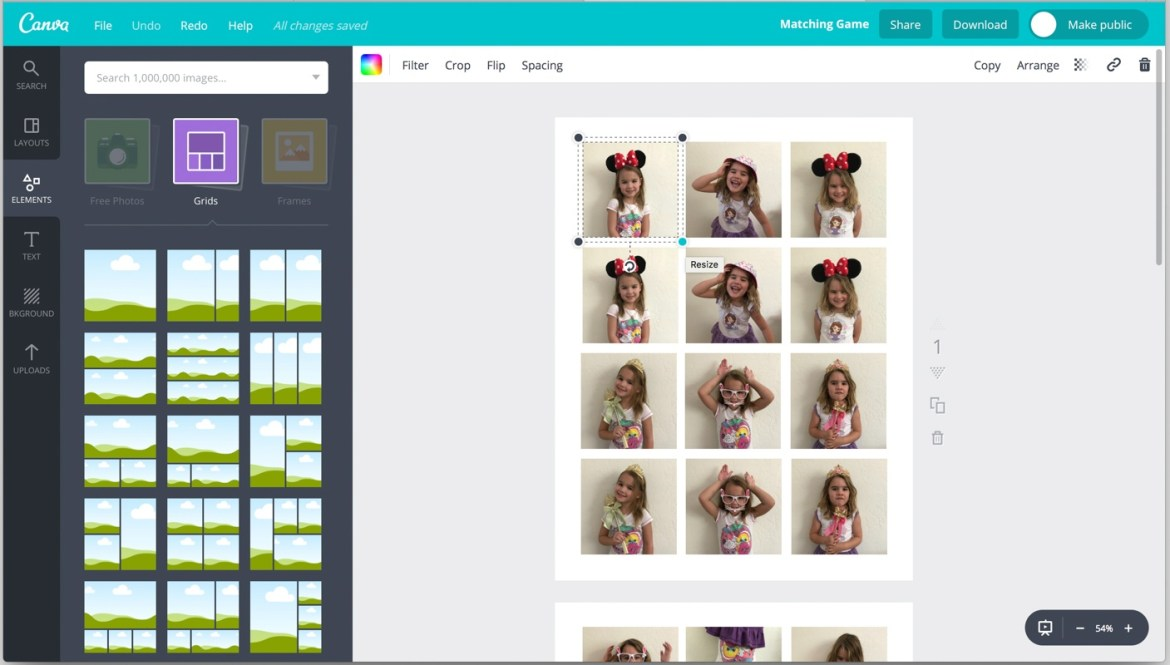 Summer Craft Ideas :: DIY Photo Memory Game by Partyography on Love the Day