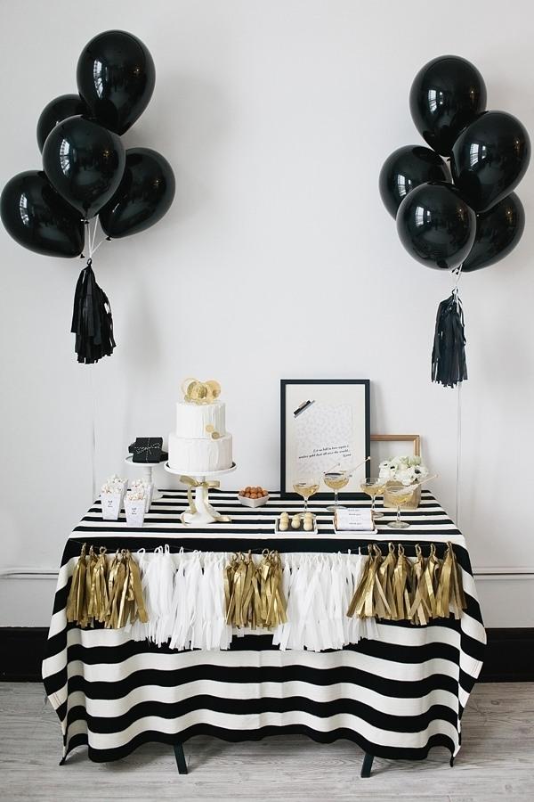 Black & White Bridal Shower Ideas on Love the Day