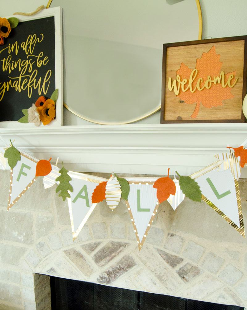 Simple Fall Mantel Ideas with Michaels by Lindi Haws of Love The Day