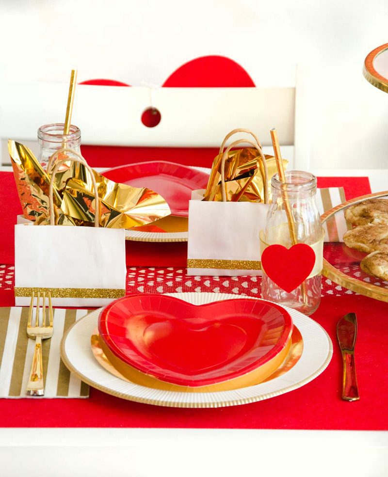 Red & Gold Valentine's Day Ideas by Lindi Haws of Love The Day