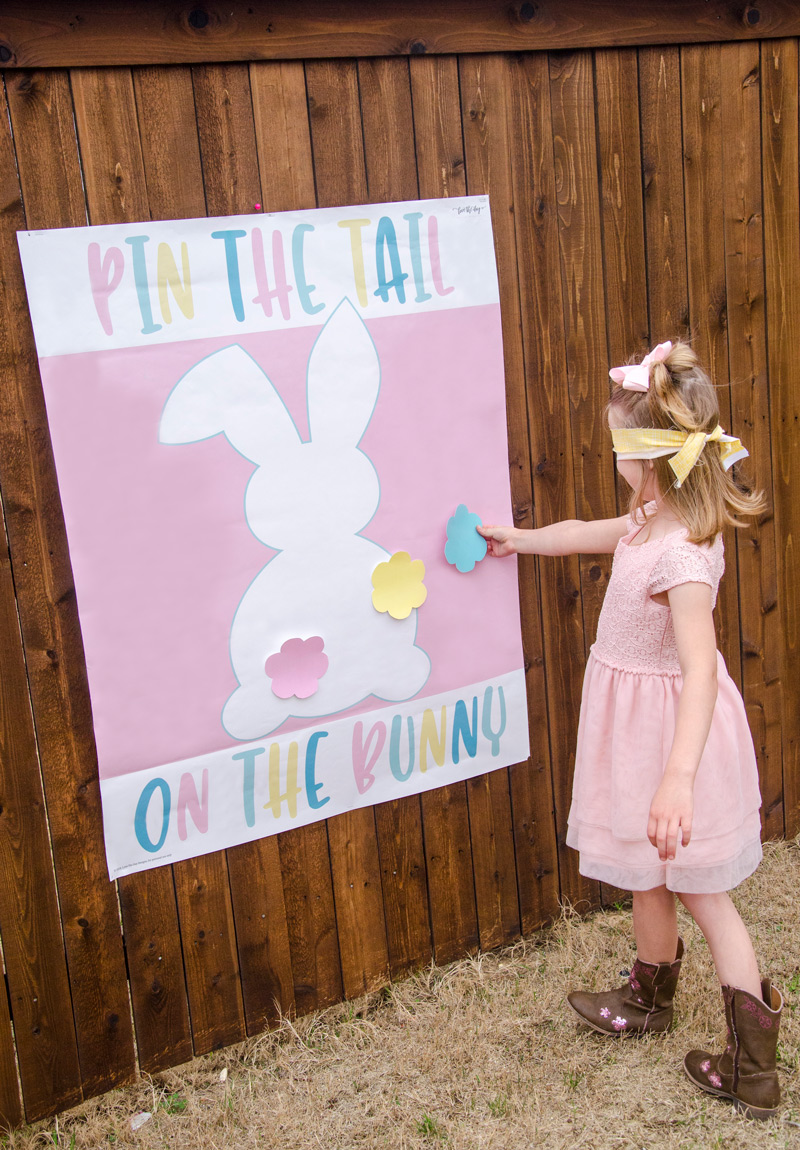Pin The Tail On The Bunny Easter Game by Lindi Haws of Love The Day