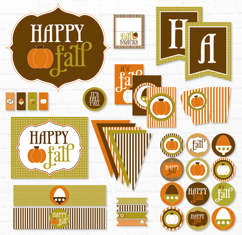 Happy Fall Y'all PRINTABLE Party by Lindi Haws of Love The Day
