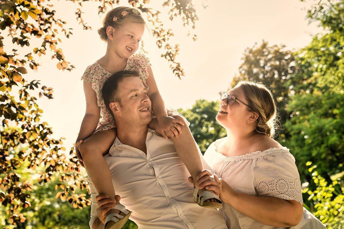 Familienfotos Leipzig Sonnenuntergang