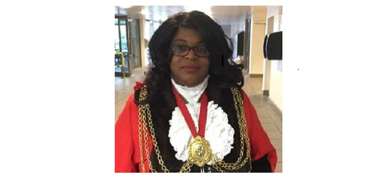 Cllr Marcia Cameron, Mayor of Lambeth, Oct 2017, in formal robes