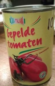 Test gepelde tomaten in blik - Blikje Casa Italiana gepelde tomaten